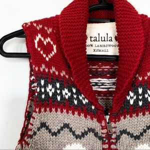 Talula • 100% Lambswool Zippered Vest